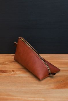 HEIMARBEIT Pencil Case Faux Leather / Deer Brown