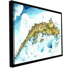 'Timor Island' by Luis Peres Framed Painting Print on Wrapped Canvas