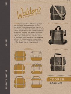 Sewing Pattern Walden by Colette Patterns Cooper by thepaperdart