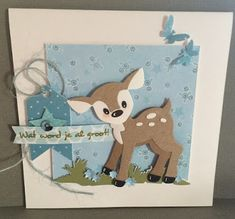 Christmas Deer, Christmas Cards, Marianne Design Cards, Baby Christening, Baby Deer, Baby Makes, Animal Cards, Baby Design, Paper Cards