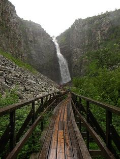 Njupeskär, Sweden's highest waterfall, is located in Fulufjället National Park.