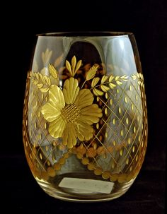 wine glass perfect for mead, the colors in the cut glass would make the mead look beautiful