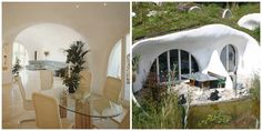 This eco friendly Swiss hobbit home by Peter Vetsch has a decked floor - we'd love to that one in Kebony!  Image credit: http://flavorwire.com/  #hobbithome, #ecohome, #swisshome
