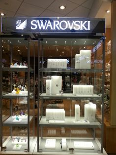 have my own expansive collection of Swarovski jewelry :D all the pieces I love and dream of are in my jewelry display