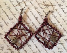 Reddish Copper OffSet Diamond Shaped Wire by PeacocksandLeopards, $19.00