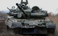 дуло, боевой, грязь, танк, т-80бв