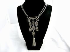 Vintage Lisner Necklace Pendant Art Deco Style by ediesbest, $14.99
