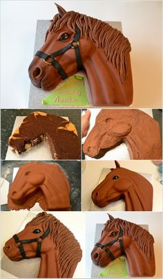 This Horse Cake is Simply What We Call Amazing Dieser Pferdekuchen ist einfach, was wir erstau Fondant Cakes, Cupcake Cakes, Cupcakes, Decors Pate A Sucre, Horse Cupcake, Western Cakes, Horse Birthday Parties, Unicorn Birthday, Birthday Cakes