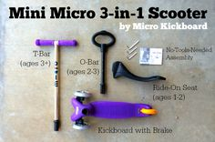 Giveaway! Mini Micro 3-in-1: A Scooter That Grows With Your Child @MicroKickboard #giveaway