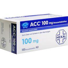 ACC 100 Brausetabletten:   Packungsinhalt: 100 St Brausetabletten PZN: 03920801 Hersteller: Hexal AG Preis: 6,28 EUR inkl. 19 % MwSt.…