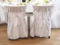 Transform the look of your wedding ceremony or reception just by adding wedding chair covers and table runner. They complete your venue arrangement and adds a touch of elegance. Furniture Slipcovers, Slipcovers For Chairs, Dining Chair Seat Covers, Best Dining, Wedding Chairs, Cool Chairs, Dining Room Chairs, Table Runners, Design