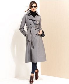MICHAEL Michael Kors - Cotton-blend Trench Coat - Black | Women