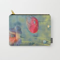 Vintage poppies Carry-All Pouch by maryberg