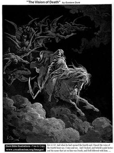 The Vision of Death from the Book of Revelations 6:7-8 by Gustave Dore