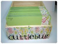 Storage for Cuttlebug embossing folders