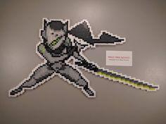Overwatch perler beads by manicmadegeekery