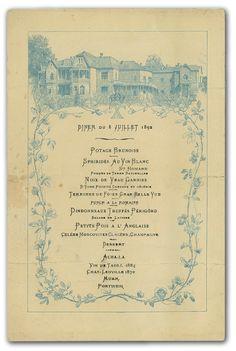 Menu royal à Tatoï en juillet 1892 - Noblesse & Royautés