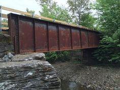 Bridgehunter.com | Lamoille Valley Rail Trail - Smith Brook Bridge