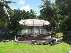 Private Villas at Zil Pasyon on Felicite Island, Seychelles by Richard Hywel Evans