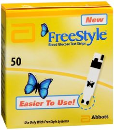 Image of FreeStyle Blood Glucose Test Strips 50 Each