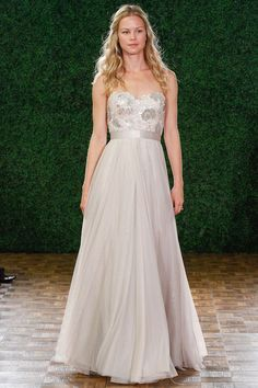 Blush Wedding Dresses from the Spring 2015 Bridal Collections by Watters | via junebugweddings.com