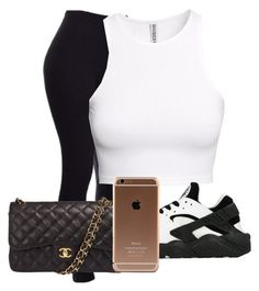 """""""Untitled #2"""" by slayykiara ❤ liked on Polyvore featuring H&M, NIKE and Chanel"""