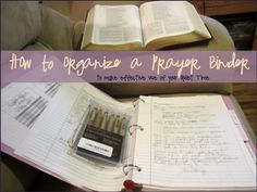 Last time I showed you guys my Quiet-Time/Prayer Binder. Here's a peek at the inside: I've never really had a good example of what quiet time looks like, aside from being directed to have them duri. Bible Study Notebook, Scripture Study, Bible Verses, Journal Notebook, Scriptures, Prayer Box, Power Of Prayer, Spiritual Life, Spiritual Growth