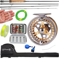 Sougayilang Fly Fishing Rod Reel Combos with Lightweight Portable Fly Rod and CNC-machined Aluminum Alloy Fly Reel,Fly Fishing Complete Starter Package Ocean Fishing Boats, Fishing Uk, Fly Fishing Gear, Fly Fishing Rods, Fishing Girls, Fishing Life, Fly Fishing Equipment, Fly Reels, Rod And Reel