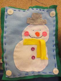 Kässä ja kuvis: Lumiukot askarteluhuovasta