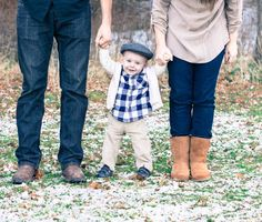 Baby one year old winter family picture :) Family of three! Photo by Eric Leslie Photography  www.ericleslie.com