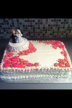 Wedding Shower Sheet Cake and Cupcakes - Cake by NicholesCustomCakes ...