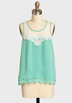 Spirited Occasion Scalloped Top. Yet again with my favorite mint color