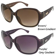 These Coach Sunglasses sunglasses are an oversize rectangular plastic wrap with logo-engraved temples. The Coach name is engraved on the temples.