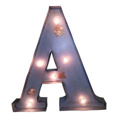"""20"""" A - Z Colored Vintage Marquee Light Up Letters from The Rusty Marquee"""