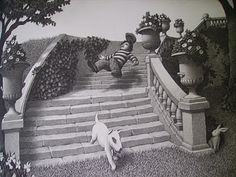 ritz – Chris van Allsburg – The Garden of Abdul Labyrinth Maze, Photography Challenge, Calling Cards, Zine, Great Artists, Drawings, Pictures, Painting, Labyrinths