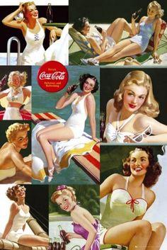 Coca Cola - Girls Vintage Advertisement