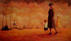 Grandma's Sunday Walk  George Russell Drysdale (1912-81) Australia