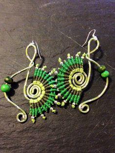 Boucles d'oreilles en Macramé, Boucles d'oreilles Pendantes, Boucles d'oreilles de Festival, Boucles d'oreilles Bohèmes, Ethniques