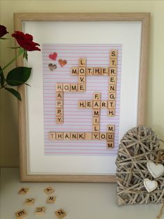 This one was prepared for Mother's Day to thank the special lady.