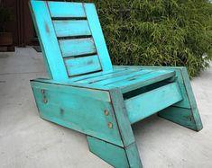 SÃO RAFAEL II modern/vintage reclaimed wood deck chair