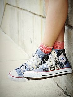Free People Skull Studded High Tops
