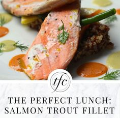 Salmon Trout Fillet Quinoa with Pink Grapefruit and Chervil