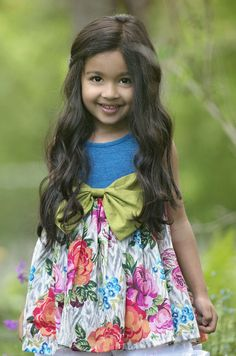 Persnickety Forget Me Not Rose Dress for Girls $72.00