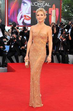 Kate Hudson in Atelier Versace at Vencie Film Festival 2012,…