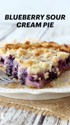 Great Desserts, Delicious Desserts, Birthday Cake Flavors, Pie Recipes, Kitchen Recipes, Blueberry Recipes, No Bake Treats, How Sweet Eats, Desert Recipes
