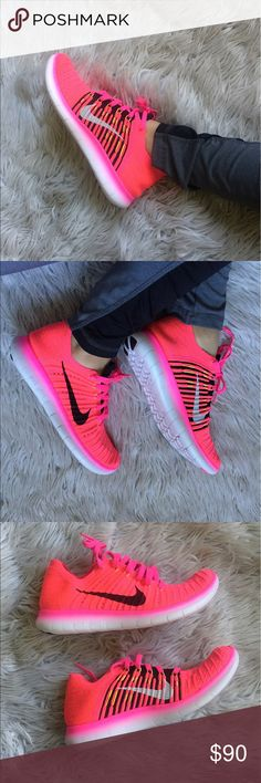 Women's Nike Free RN Flyknit Beautiful color! Brand new with original box. Women's Nike Free RN Flyknit gives you miles of comfort.  Has flyknit upper, classic silhouette, and tristar outsole pattern. Responds to foots every step, delivering support and flexibility.  (No trades) Nike Shoes Sneakers