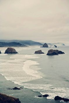 Canon Beach, Oregon. This is the only place that I would enjoy being cold. I wish I could be there right now.