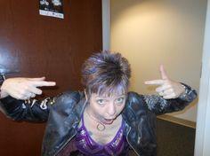 Polly Wogg's purple hair