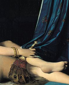 detail of Jean Auguste Dominique Ingres's La Grande Odalisque (1814).
