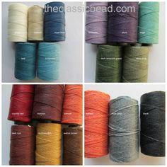 Waxed Irish Linen, PICK THREE 15 yards, TWO Ply Waxed Irish Linen Thread, Linen thread, Linen cord, 2 ply, The Classic Bead, Stringing